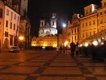 1个捷克布拉格共和国正方形 库存照片