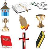 1个教会图标 库存图片