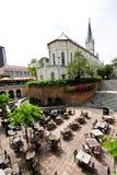 1个教会庭院新加坡 库存照片