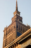 1个文化宫殿华沙 库存照片