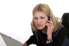 1个有吸引力的客户操作员服务 免版税库存照片