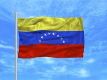 1个标志委内瑞拉 免版税库存图片