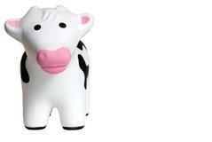 1个母牛玩具 库存图片