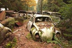 1个汽车坟园 库存照片