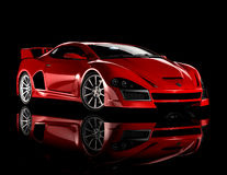 1个汽车红色体育运动 库存图片