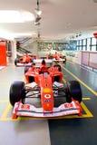 1个汽车ferrari配方红色体育运动 库存图片