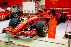 1个汽车ferrari配方红色体育运动 免版税图库摄影