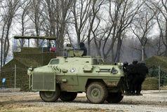 1个活动武装的塞尔维亚人 库存照片
