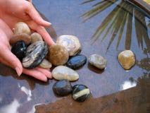1个浴小卵石 免版税库存图片