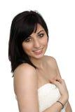 1个浴美丽的毛巾佩带的妇女年轻人 库存照片