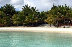 1个海滩毛里求斯 图库摄影