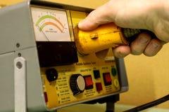 1个电气设备测试 免版税库存图片