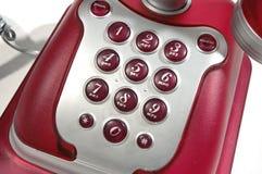 1个电话红色 库存图片