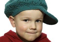 1个男孩帽子一点 库存图片