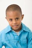 1个男孩讲西班牙语的美国人 免版税库存照片