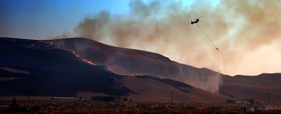 1个直升机类型野火 库存照片