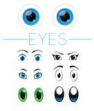 1个眼睛向量卷 库存照片