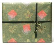 1个礼品绿色红色 免版税库存照片