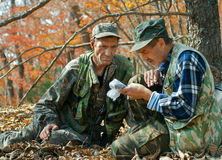 1个秋天森林别动队员 库存图片