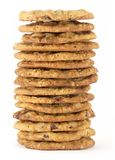 1个筹码巧克力曲奇饼塔 免版税库存图片