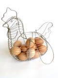 1个篮子鸡蛋 免版税库存图片