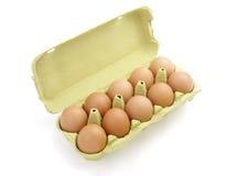 1个篮子鸡蛋 免版税库存照片