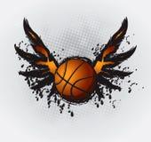 1个篮球设计要素 免版税库存图片