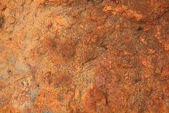 1个红色岩石 库存图片