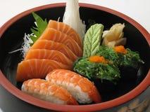 1个组合生鱼片寿司 免版税库存照片