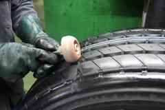 1个维修服务轮胎 库存图片