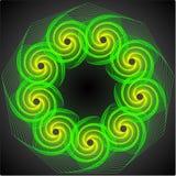 1个绿色漩涡 免版税库存图片