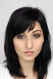 1个美丽的headshot妇女年轻人 库存图片
