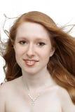 1个美丽的headshot红头发人 免版税库存图片