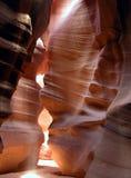 1个羚羊峡谷光轴 免版税库存照片