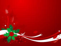 1个背景圣诞节霍莉 免版税库存照片