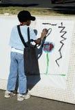 1个艺术家年轻人 免版税库存照片