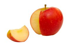 1个苹果红色 免版税库存照片