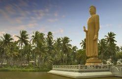 1个菩萨mahabodhi雕象 免版税库存图片