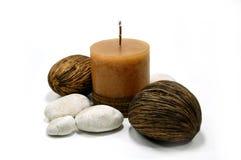 1个蜡烛石头 免版税库存照片