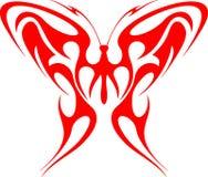 1个蝴蝶火焰状部族向量 免版税库存照片