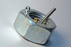 1个螺栓螺母 库存照片