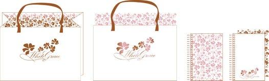 1个袋子棕色粉红色 库存图片