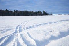 1个路冬天 免版税库存照片