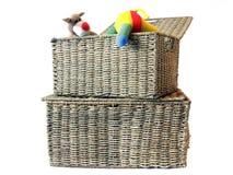 1个配件箱存贮玩具 免版税库存图片