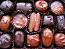 1个配件箱巧克力 库存照片