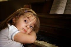 1个钢琴演奏者 库存图片