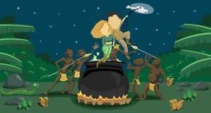 1个非洲情节邀请 免版税库存图片