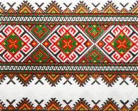1个颜色编织了纺织品乌克兰人 免版税库存图片