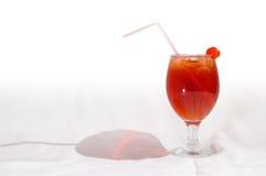 1个鸡尾酒红色 图库摄影