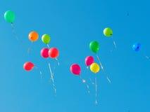 1个baloons颜色 免版税库存照片